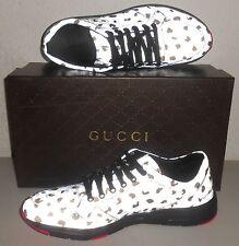 60e416e4d48 GUCCI Reflective Leopard Print Techno Fabric Low Top Sneaker 11.5G (US  12.5) NIB
