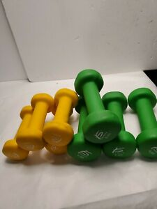 Lot of 8 Dumbbell Pro source fit  Hand Weight Dumbell (24lb total)