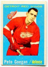 1959/60 Topps Pete Goegan Card #4 Detroit Red Wings