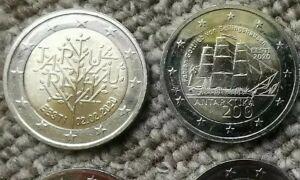 LOT de 2 x 2 euro commémorative ESTONIE 2020 !! NEUVES