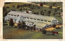 Lufkin Texas~Texas Foundries Inc~Malleable Iron Castings~1939 Linen Postcard