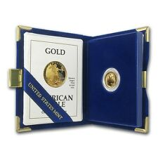 1991-P 1/10 oz Proof Gold American Eagle (w/Box & COA) - SKU #11273