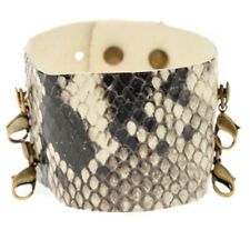 Lenny & Eva Wide Cuff Cobra Leather Bracelet - Retired
