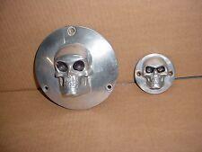 Harley Davidson Chopper Bobber Shovelhead EVO 3D Skull Derby and Timer Cover