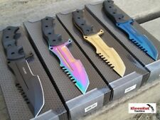 4 Pc CSGO Tactical Huntsman Knife SET Fixed Blade CS:GO Bowie Survival Hunting
