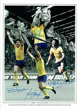 ARSENAL FA CUP 1979 Winners Multi Signed Autograph 16x12 Montage Photo AFTAL COA