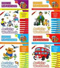 Set of 4 x Early Learning Activity Books Educational Pre-School Work 3yo+ 3092