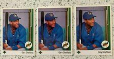(3) 1989 Upper Deck Gary Sheffield RC Star Rookie Milwaukee Brewers