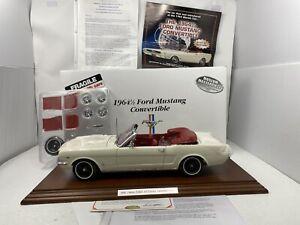 1/12 Danbury Mint Musuem 1964 1/2 Mustang Convertible White VERY RARE READ ME