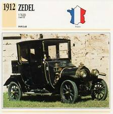 1912 ZEDEL 12HP Classic Car Photograph / Information Maxi Card
