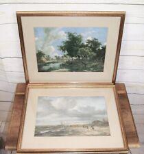 2 x Framed Antique Reproduction 17th Century Dutch Landscape Fine Art Prints