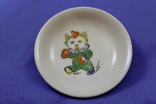 "Vintage Japanese Clown Porcelain or Ceramic 2.5"" Dipping Dish Plate"