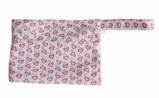Mini Wet Bag Waterproof Reusable Pink Heart  for Mama Cloth Menstrual Pad Tampon