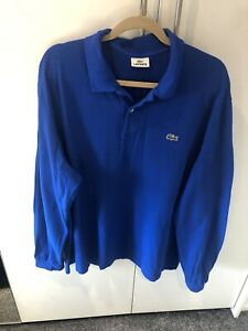 Size 9 XXXL 3XL Blue Lacoste Long Sleeve Polo Shirt, great condition
