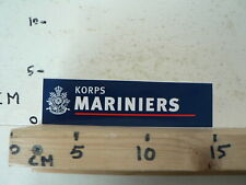 STICKER,DECAL KORPS MARINIERS ARMY LEGER BLUE STICKER AA