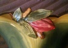 RARE VINTAGE FACTORY MINT MCCOY ART POTTERY APPLIED PURPLE CROCUS PLANTER VASE