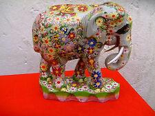 Naive Malerei : ERICH GRAMS - Bemalter Elefant 30 x 32 x 16 cm