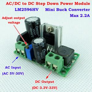 LM2596HV AC/DC to DC 3.3V 5V 6V 9V 12V 24V Buck Converter Step Down Power Module