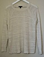 J. Crew Pullover Crew Neck Cream Sweater Women's Size Medium