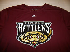 Wisconsin Timber Rattlers MiLB Adult XL T-Shirt Majestic Cool Base Polyester