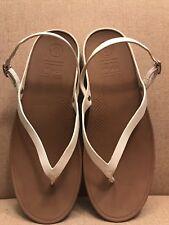 df7ff32a7e15 Fitflop Flip Women Convertible Backstrap Thong Sandals Shoes White Size 11