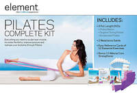 Element Complete Pilates Kit ~ 3 DVDs 2 Resistance Bands Workout ~ New Sealed
