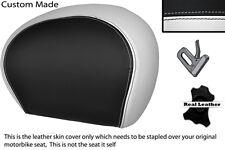 Blanco Y Negro Custom encaja Piaggio Vespa 125 250 300 Gts Cuero Respaldo cubierta