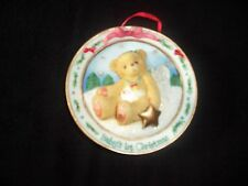 "Enesco Cherished Teddies  ""Baby's First Christmas"" Ornament Plate / NEW"