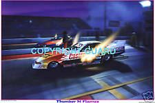 JOHN FORCE VS. JERRY CAMINITO Circa 1994  Drag Racing Art Print