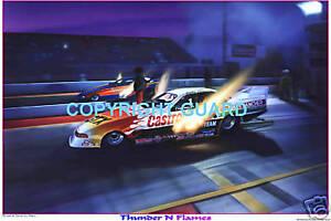 JOHN FORCE VS. JERRY CAMINITO Circa 1994  Drag Racing Art Print