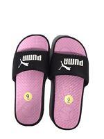 PUMA Cool Cat Women's Slides / Sandals, Black, Pink & White, US Size 9 ♡ New ♡
