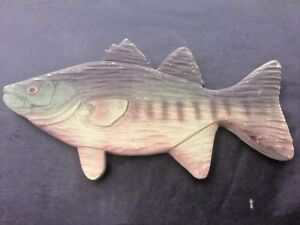 Trout Bass FISH WALL PLAQUE ART Cabin Lodge Mountain Home Hunting Fishing Decor