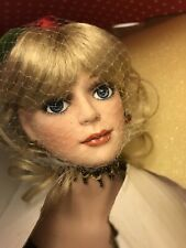 """Paradise Galleries Rosalind 19"""" Tall Porcelane Doll With Stand/ Damaged Box"""