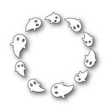"""Simon Says Stamp SPINNING GHOSTS Die 3.25"""" Circle Halloween Spooky Card Design"""