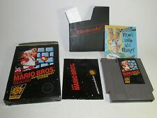 Super Mario Bros. (Nintendo, 1985) NES Complete CIB Non Rev-A Hangtab Good Shape