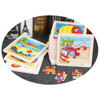 Kids Wooden Jigsaw Puzzle Toy Children Cute Baby Insects Animal Educational