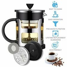 French Press Coffee Maker 34 Oz Espresso Tea Pot Glass Stainless Steel Cafetiere