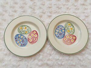 2 New Emma Bridgewater Easter Egg Hunt 6 1/2 inch Plate 2nd ( set of 2 plates )