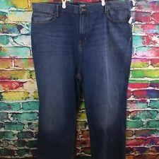 Old Navy Mens Loose Rigid Jeans Dark Wash - New - Big 48W x 30L