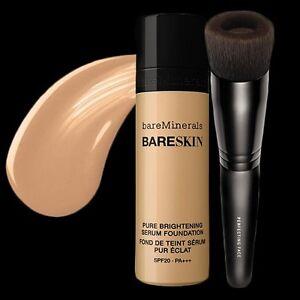bare Minerals * bareSkin Serum Foundation SPF 20 w/ Perfecting Face Brush * NEW