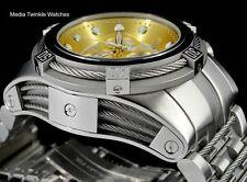 NEW Invicta Reserve Bolt ZEUS Swiss Quart Gold Dial Silver Tone Bracelet Watch