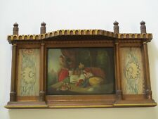 ANTIQUE 19TH CENTURY ORIENTALISM PAINTING PORTRAIT WITH TEXTILES & ORNATE FRAME