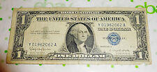 6 June 2 1962 Fancy Serial Number 1957 Silver Certificate Dollar Bill 01962062