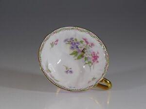 Shelley Lavender 'Stocks' Oleander Tea Cup, England c. 1945