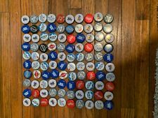 100 bottle caps, No Dents! Free shipping, good variety