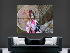 ASIAN GEISHA GIRL DONNA BELLISSIMA Grande Stampa Artistica Poster Gigante immagine grande
