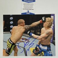 Autographed/Signed DUSTIN POIRIER UFC MMA Fighting 8x10 Photo Beckett BAS COA