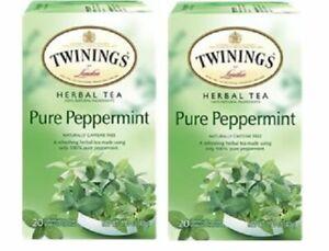 Twinings Of London Pure Peppermint Herbal Tea 2 Pack