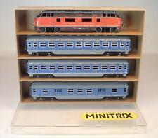 Minitrix N Spur Schiebemodelle V 200 Diesellok & 3 Peronenwagen in Box #9977