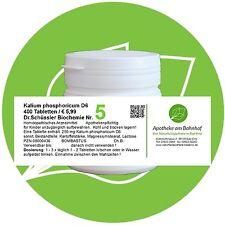 Schüßler - Salz 5 Kalium phos.  D6 400 Tabletten PZN 08000436